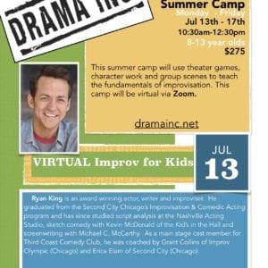 Kids Improv Virtual Summer Camp