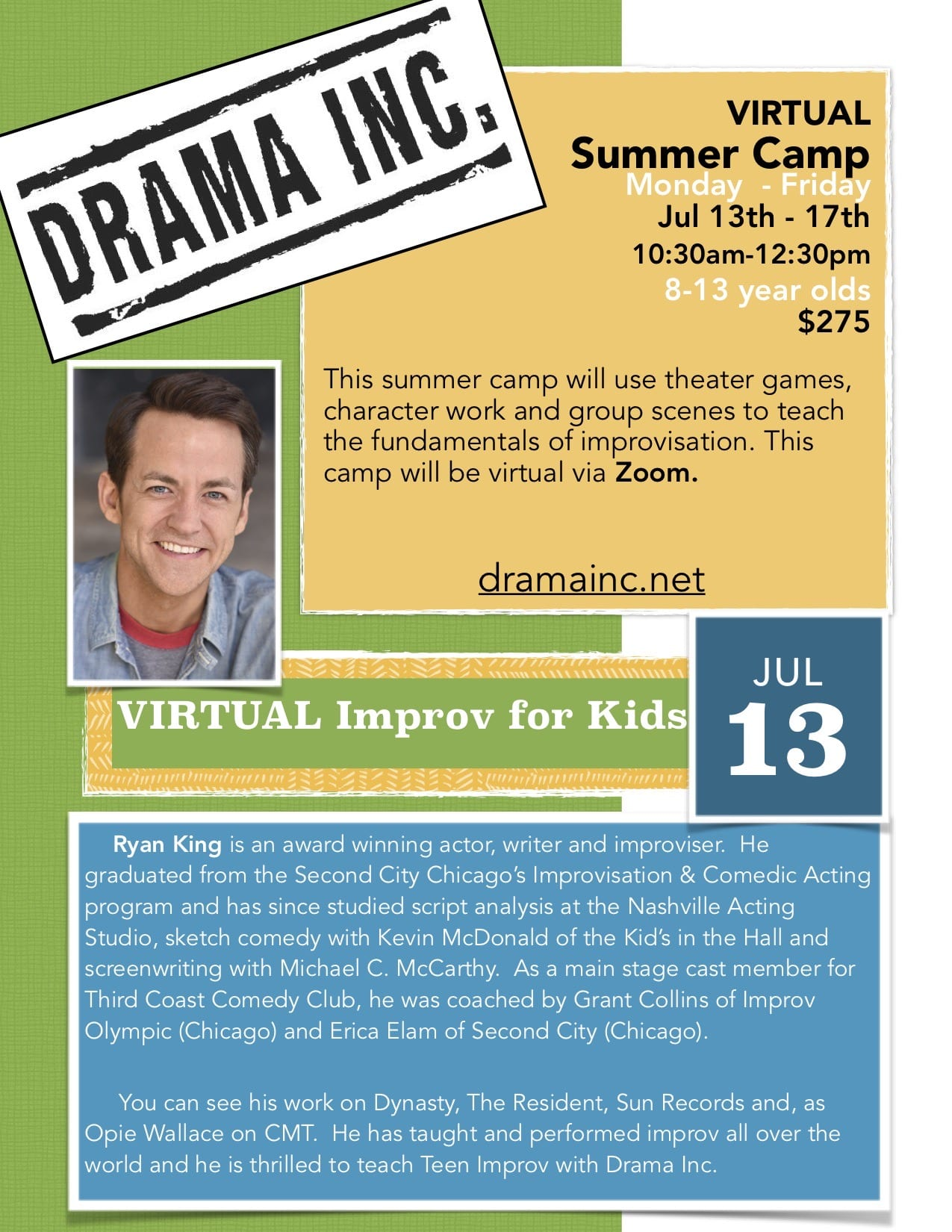 Kids Improv Virtual Summer Camp