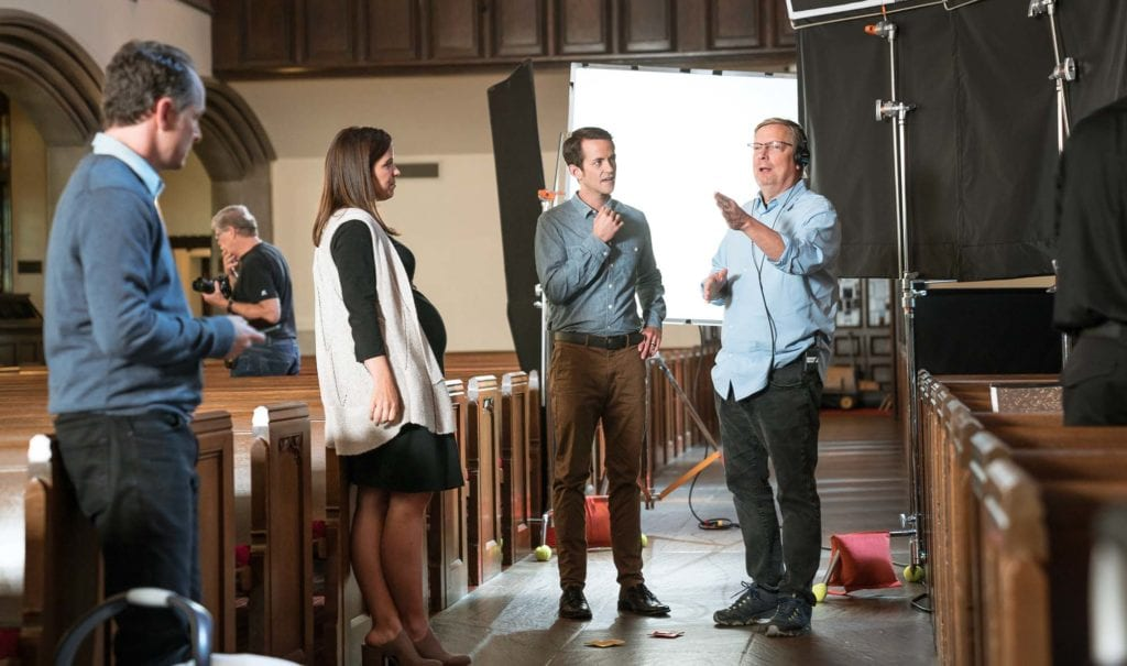 On Set For We The People With Actor Margaret French And Director Steve Horswill Johnson