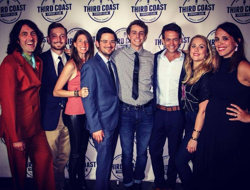 The Third Coast Comedy Club's Mainstage Cast At The Club's First Anniversary Celebration.