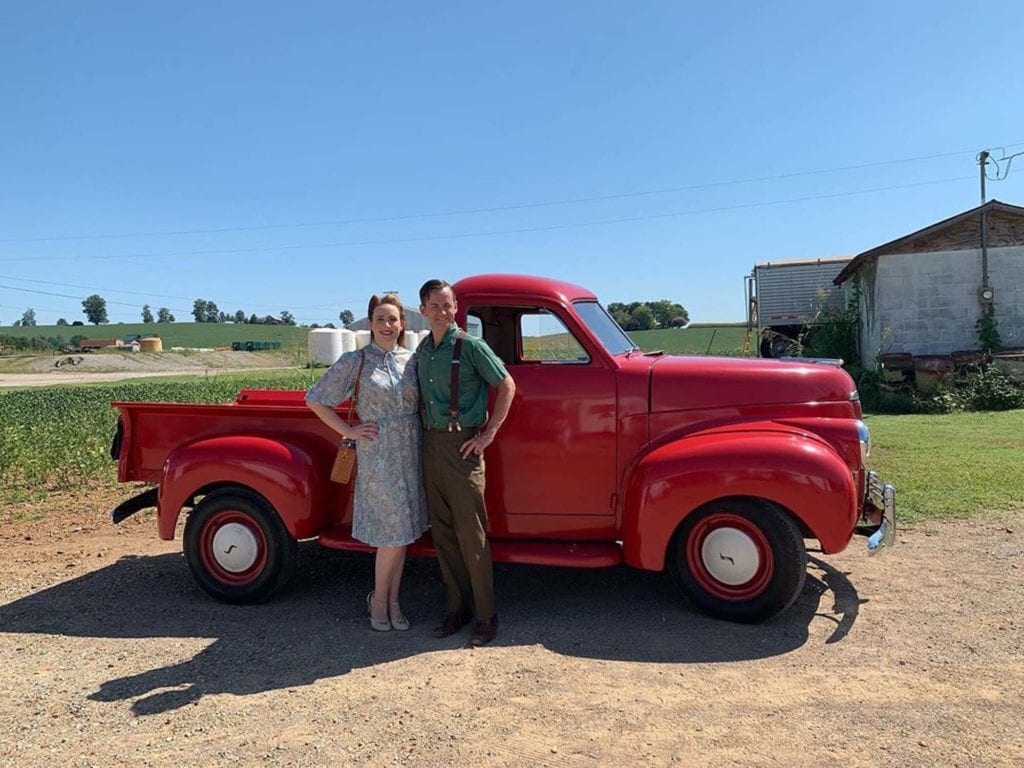 With Sally Harvey Anderson In Front Of The 1948 Studebaker I Drove For Farm Bureau